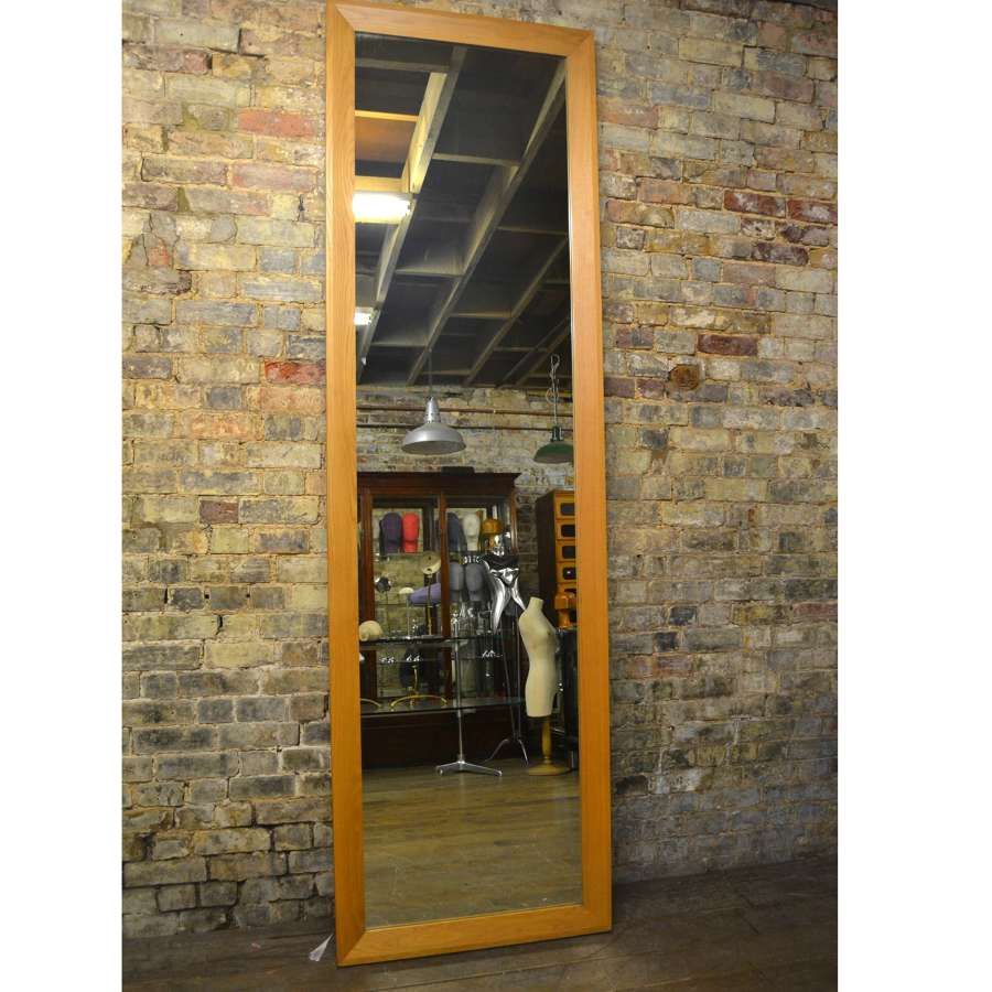 Thin Oak Bevelled Changing Room Mirror