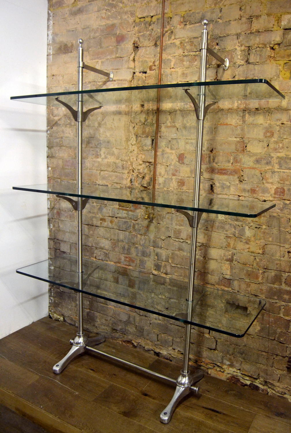 Vintage Designer Chrome Shop Display Brackets by Nigel Coates