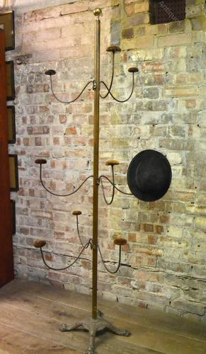Edwardian Brass Hat Stand