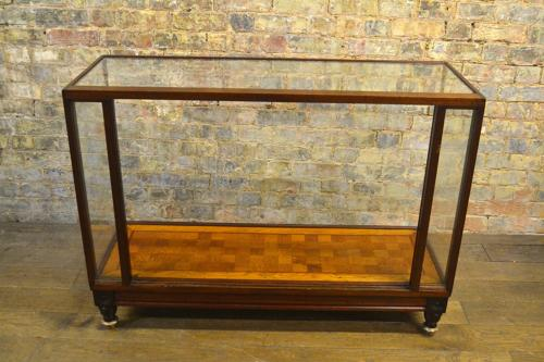 1920s Mahogany Display Shop Counter with Shelves