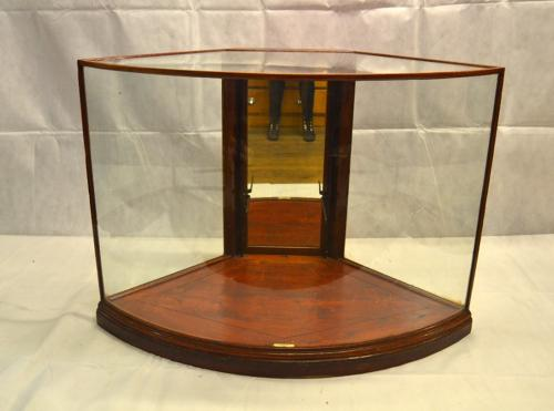 1920s Bow Front Mahogany Shop Display Counter