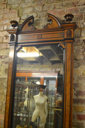 Burr Walnut Decorative Shop Mirror
