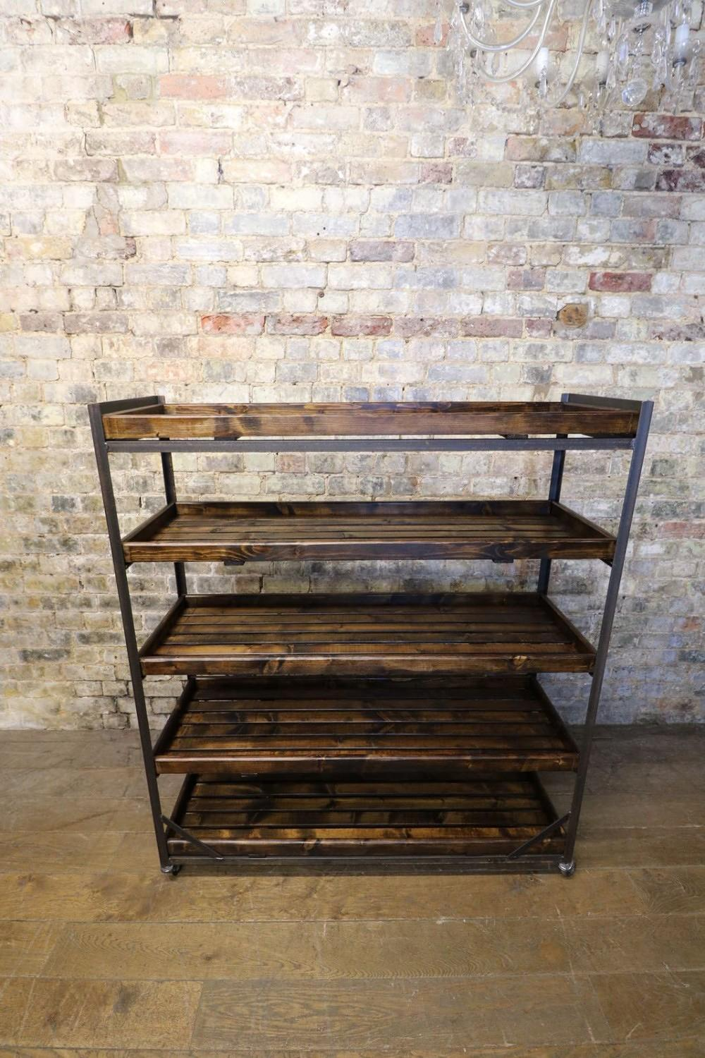 Antique Shop Display Bread Trolley / Kitchen Unit