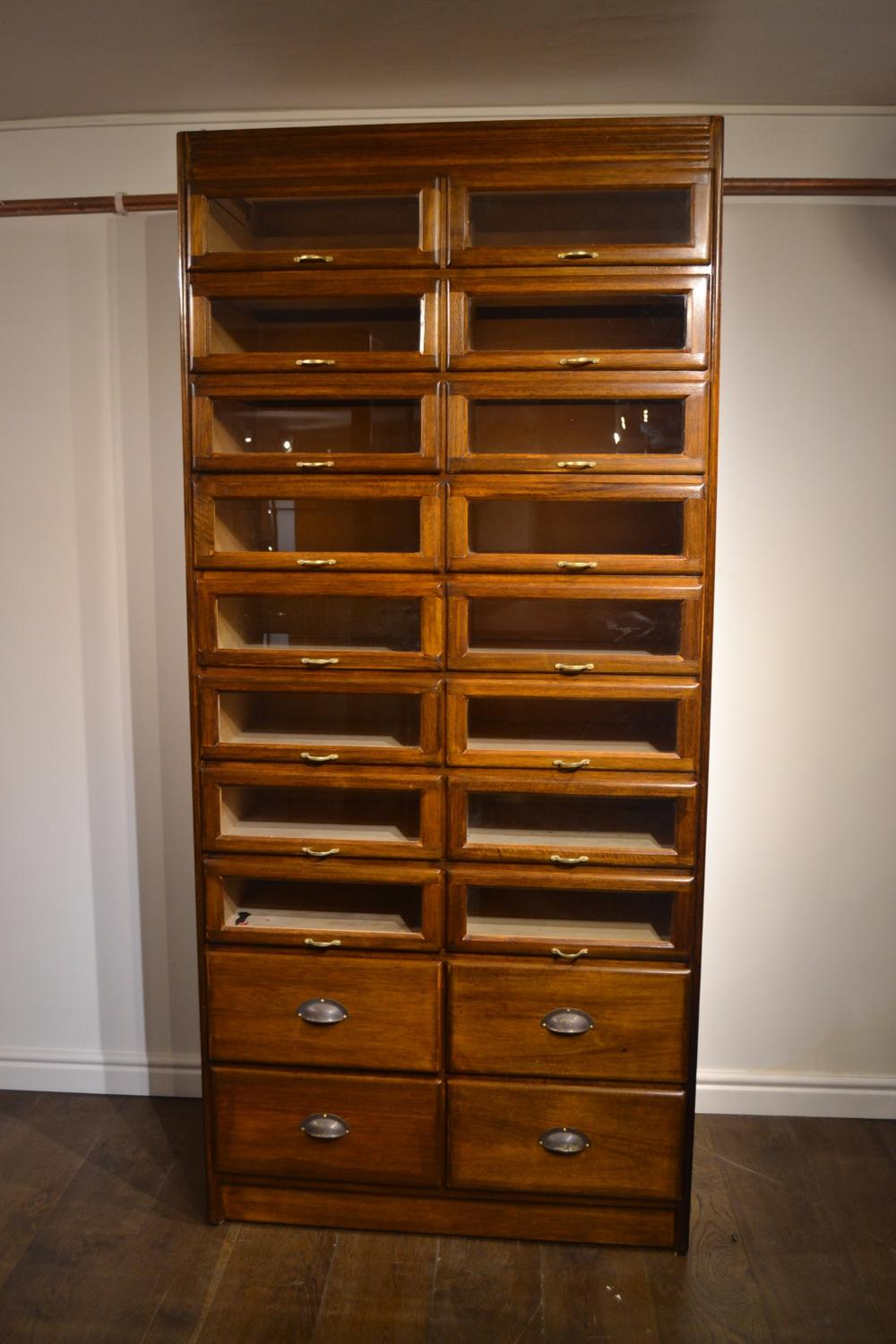 1940s Drapers Haberdashery Shop Display Drawers