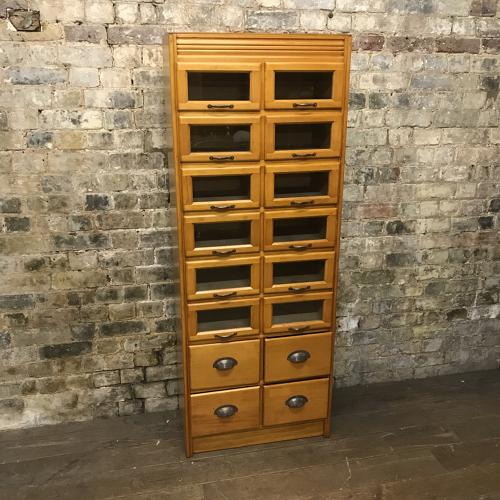 Vintage Drapers Haberdashery Shop Display Cabinet