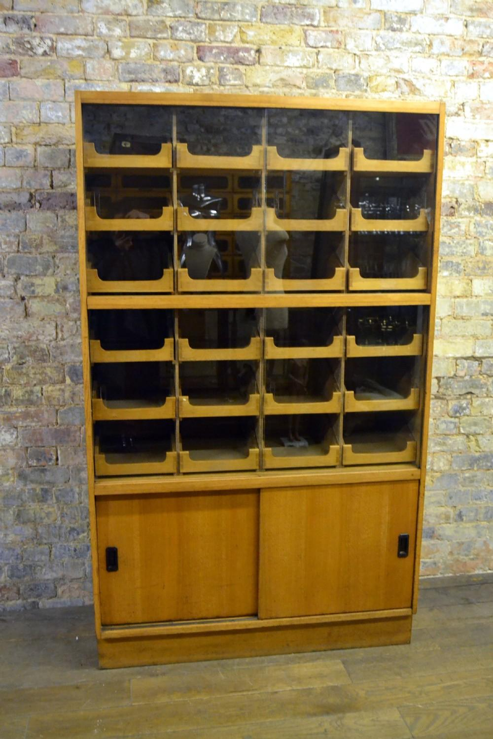 Unique Oak Haberdashery Shirt Display Cabinet