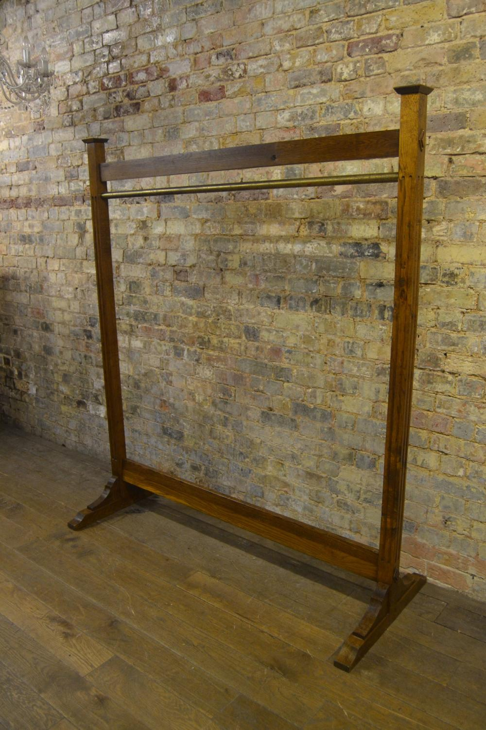 1920s Oak Hanging Rail