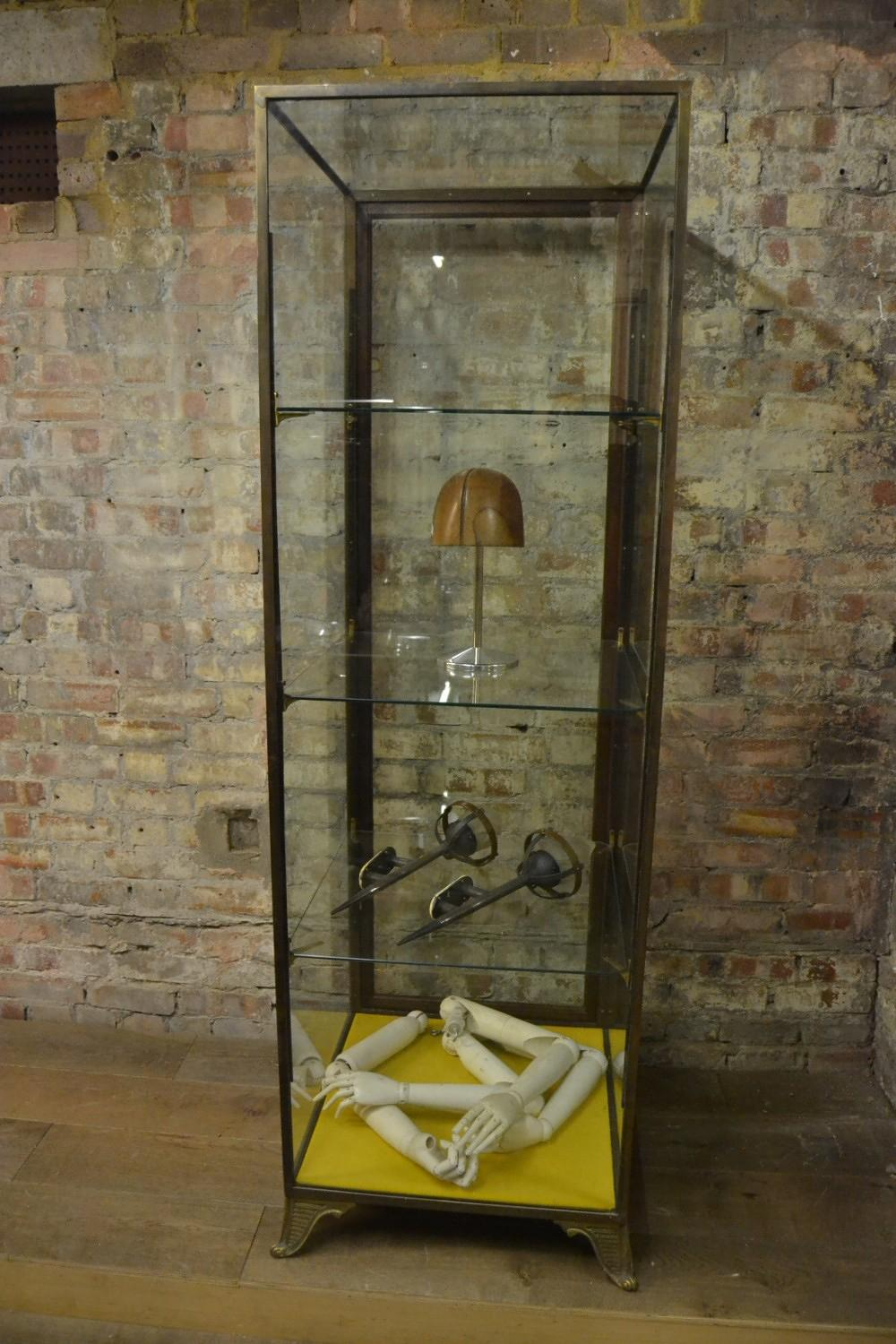 Bronze Framed 1920s Tower Shop Display Cabinet