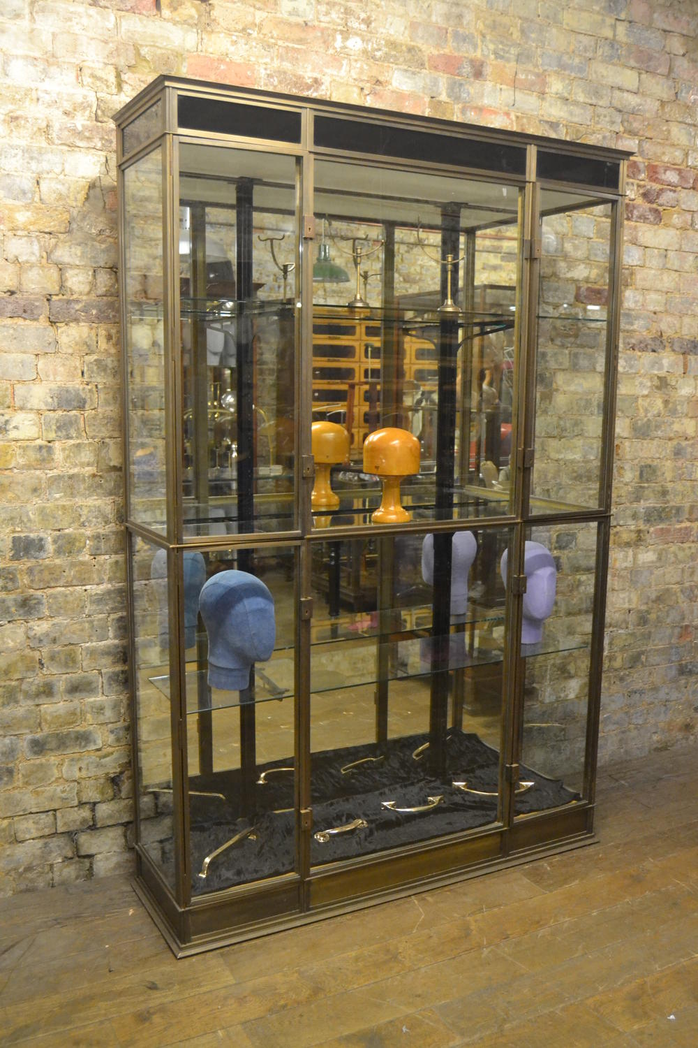 Bronze 1930s Shop Display Cabinet