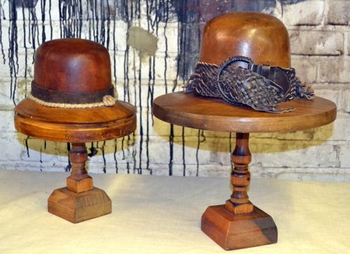 1920s French Walnut Vintage Hat Moulds
