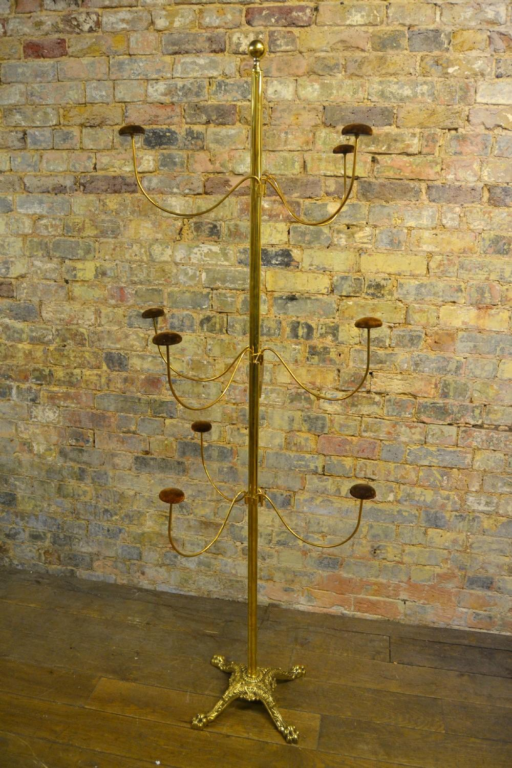 1920s Brass and Iron Hatstand