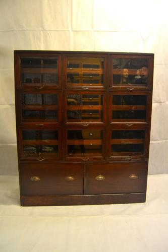 Antique 1920s Mahogany Drapers Haberdasher's Shopfitting