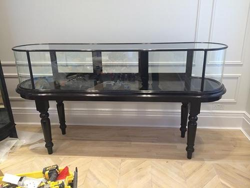 Victorian Bow Ended Jewellery Display Cabinet