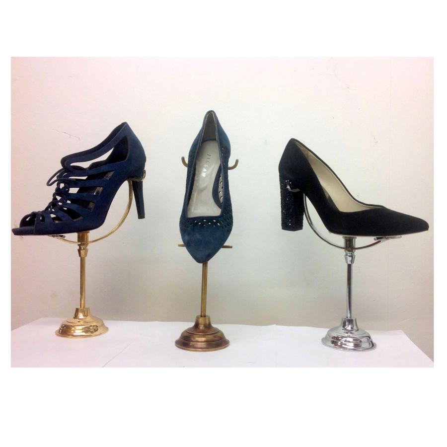 Bespoke Brass and Chrome Shoe Stands