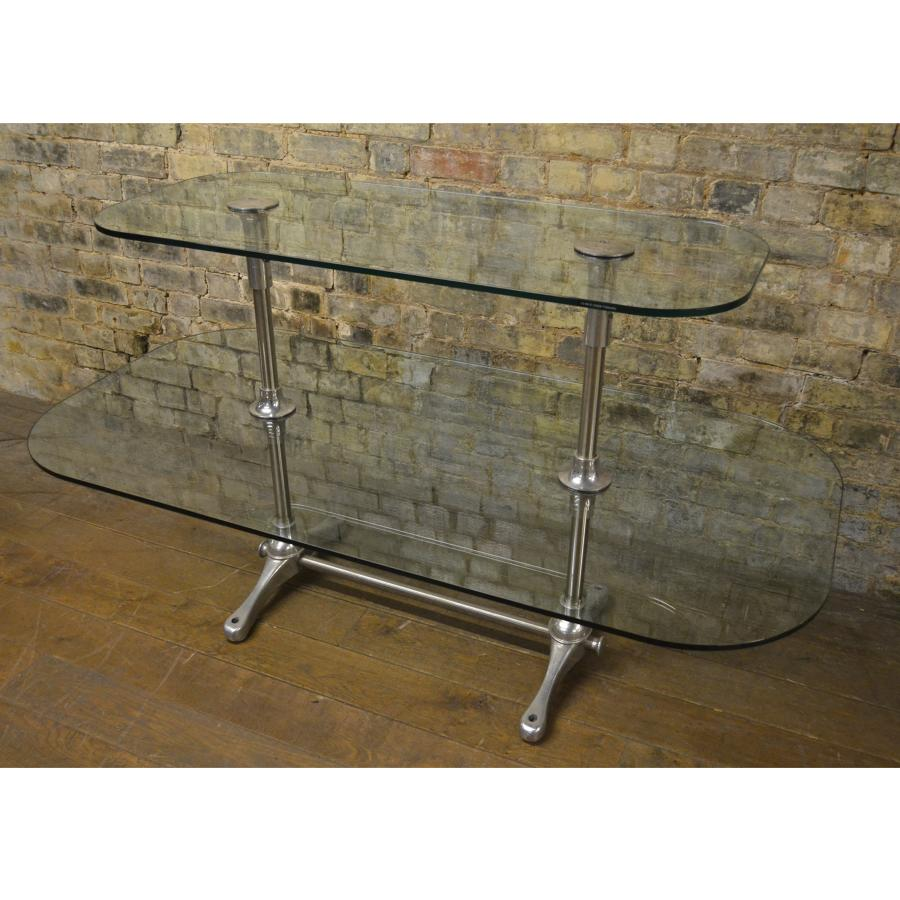 Glass and Chrome Shelving Table Shop Display Unit