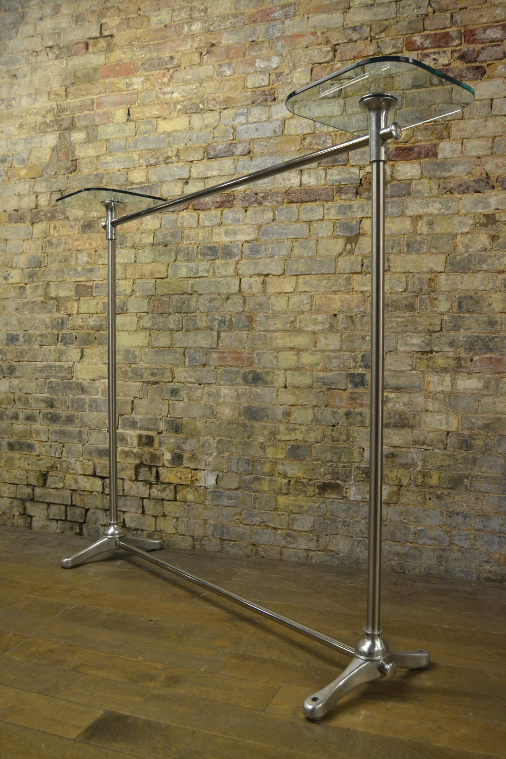 Chrome Shop Display Rail by Nigel Coates