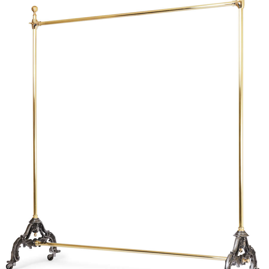 Victorian style adjustable  Brass Free Standing Clothes Rail