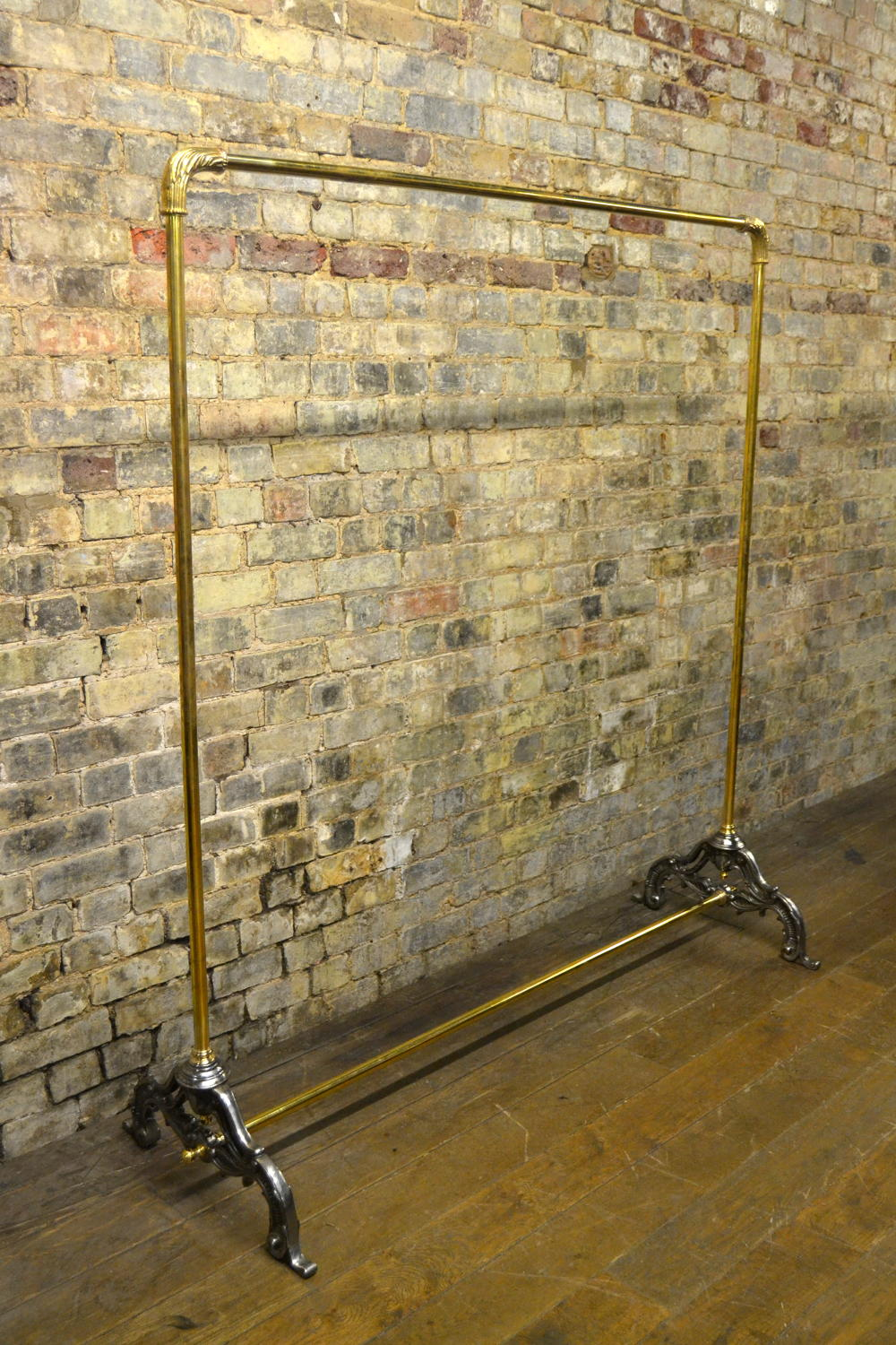 Victorian Style Brass Shop Rail with Fixed Rail