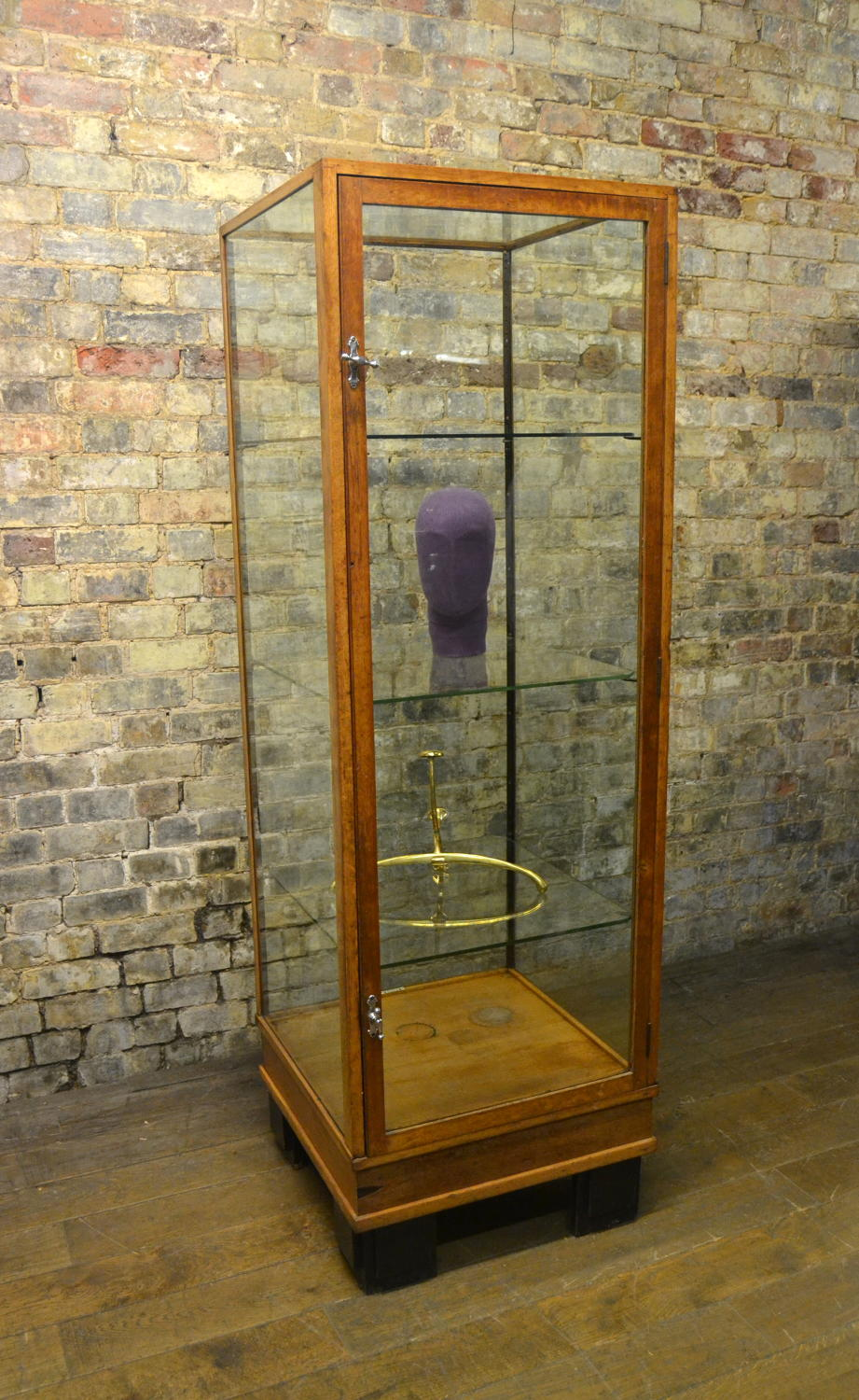 Oak Tower Shop Display Cabinet