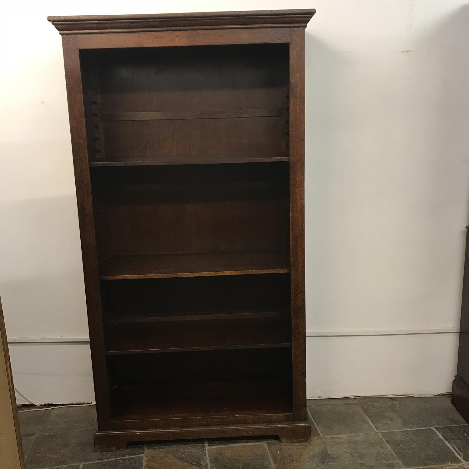 Antique Oak Book Shelf Shop Display