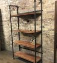 Wooden and metal Industrial shop display shelves - picture 7
