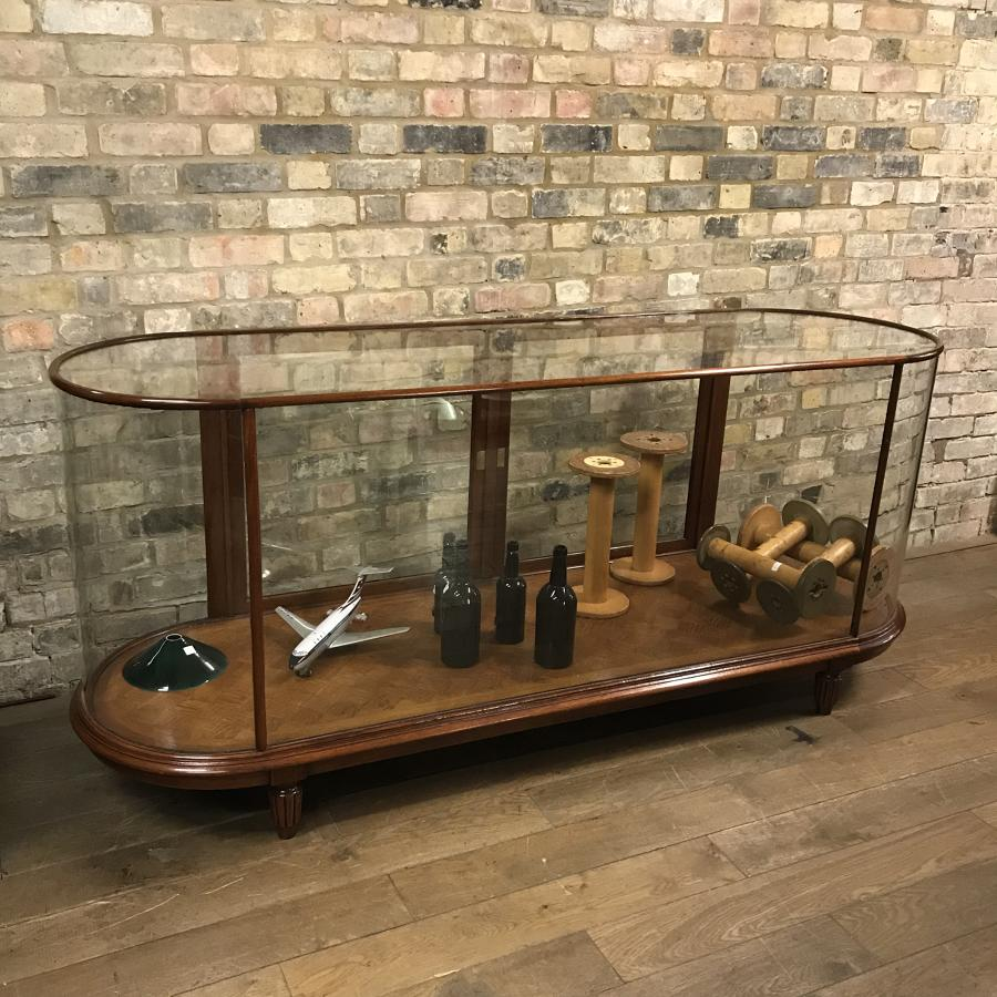 7ft Double Ended Bow Mahogany Shop Counter