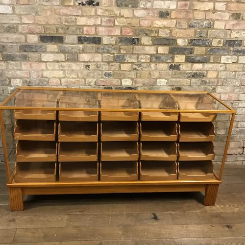 6ft Oak Drapers Shop Display Drawers