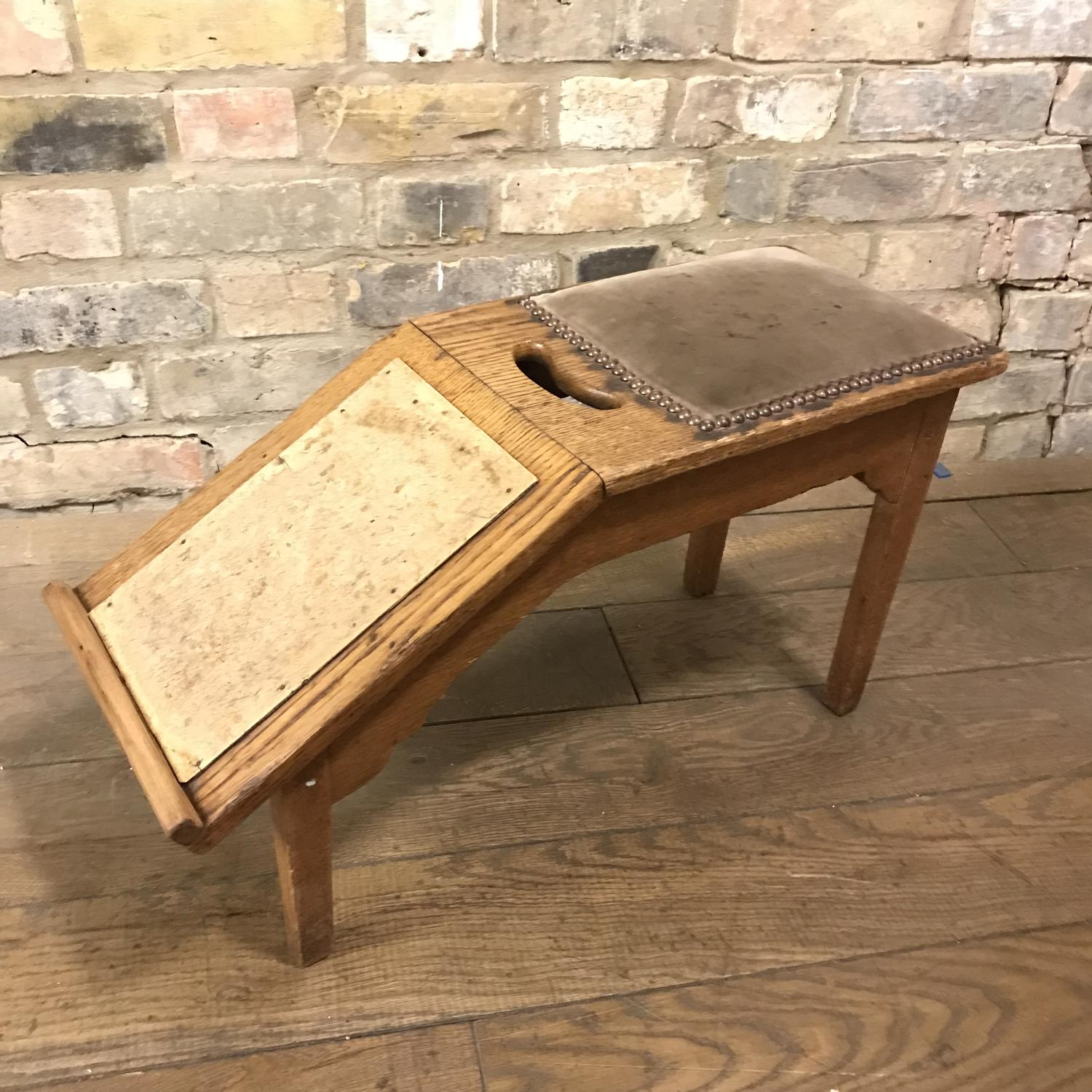 1920 Oak Shoe Shop Stool