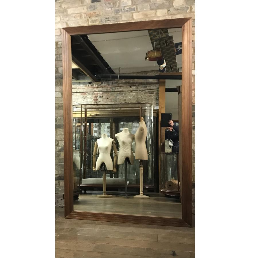Pair of Big Walnut Shop Wall Mirrors