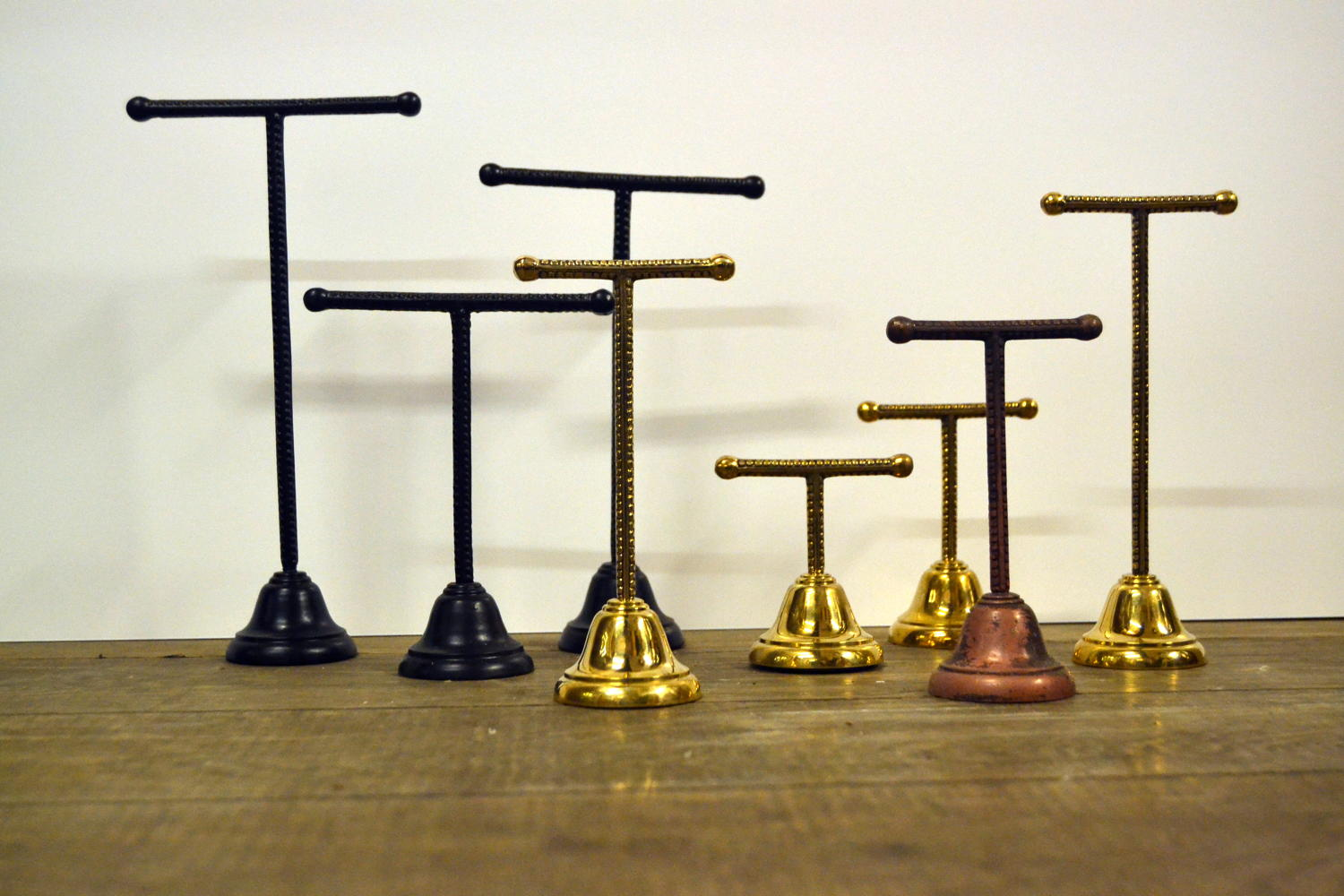 Brass Chrome T Shoe Stands