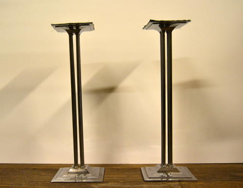 Chrome Pedestal Display Stands
