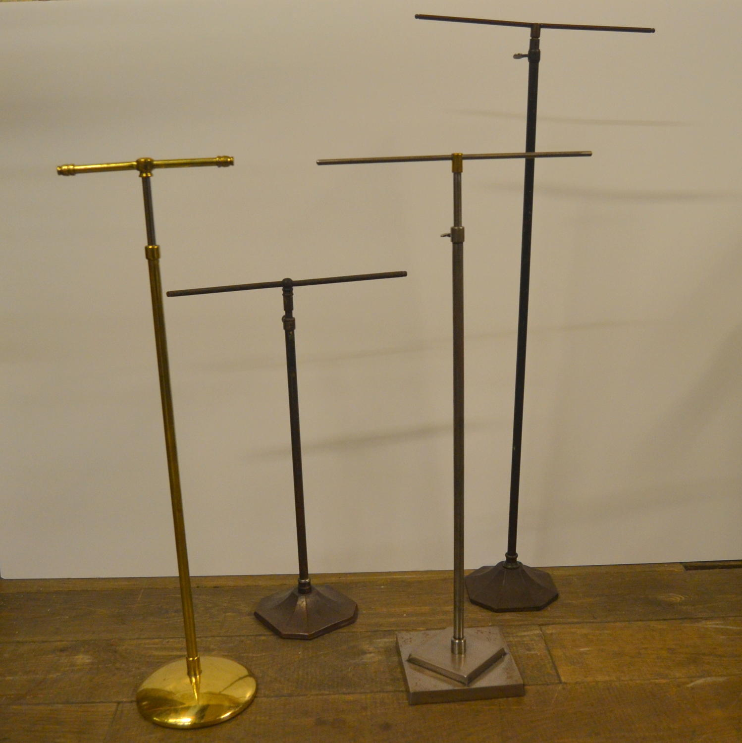 Medium Size Antique Adjustable Brass Tie Stand