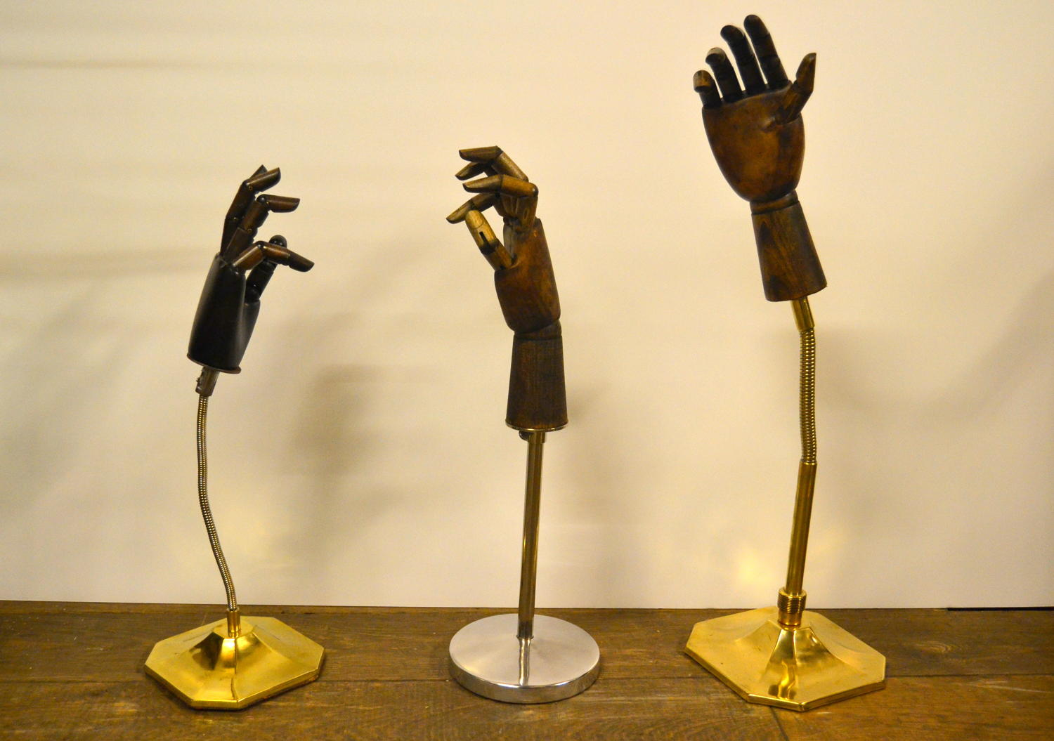 Adjustable Brass and Wooden Hands