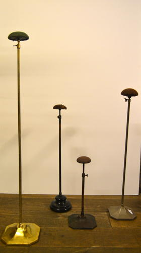 1920s Bronze  and Fabric Hat  display Stands