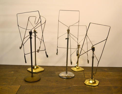 Victorian brass shirt Stands