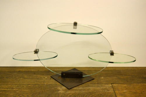 Small Glass counter top shop Shelving Display Unit