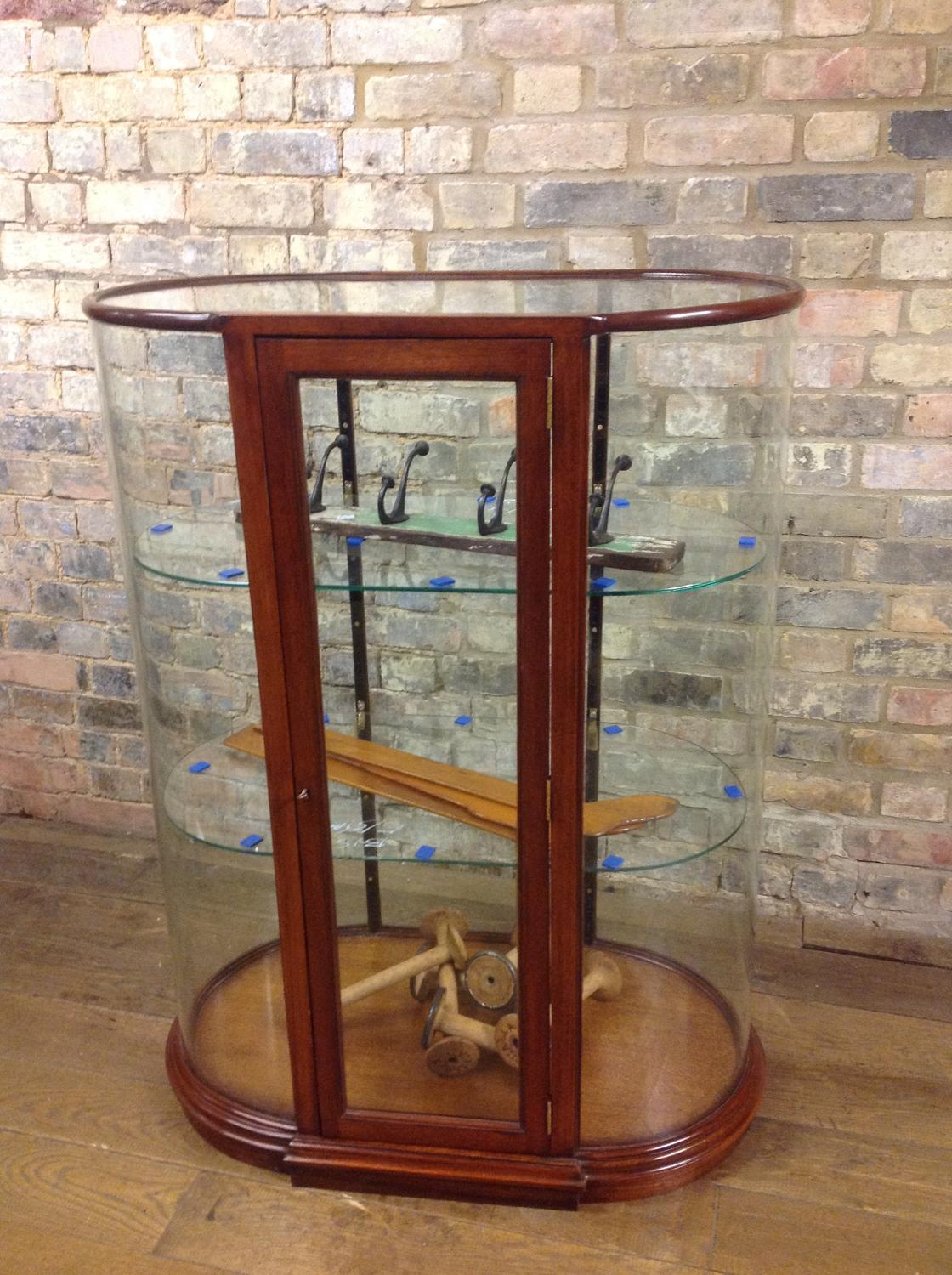 Victorian style Mahogany bow table top cabinet