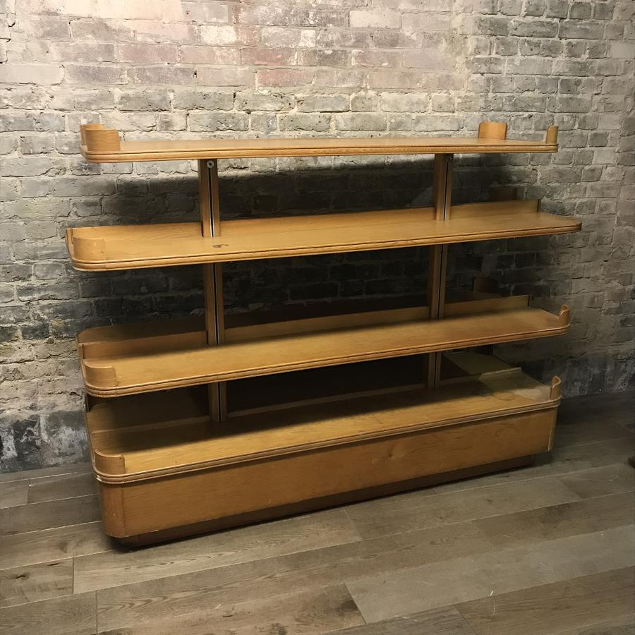 Antique Oak Shop Gondola