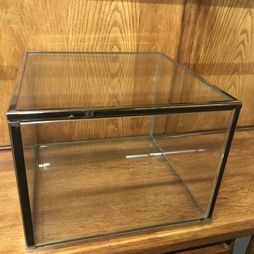 Chrome table top display cabinet