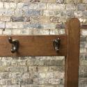Antique wooden school coat hanging rail - picture 3