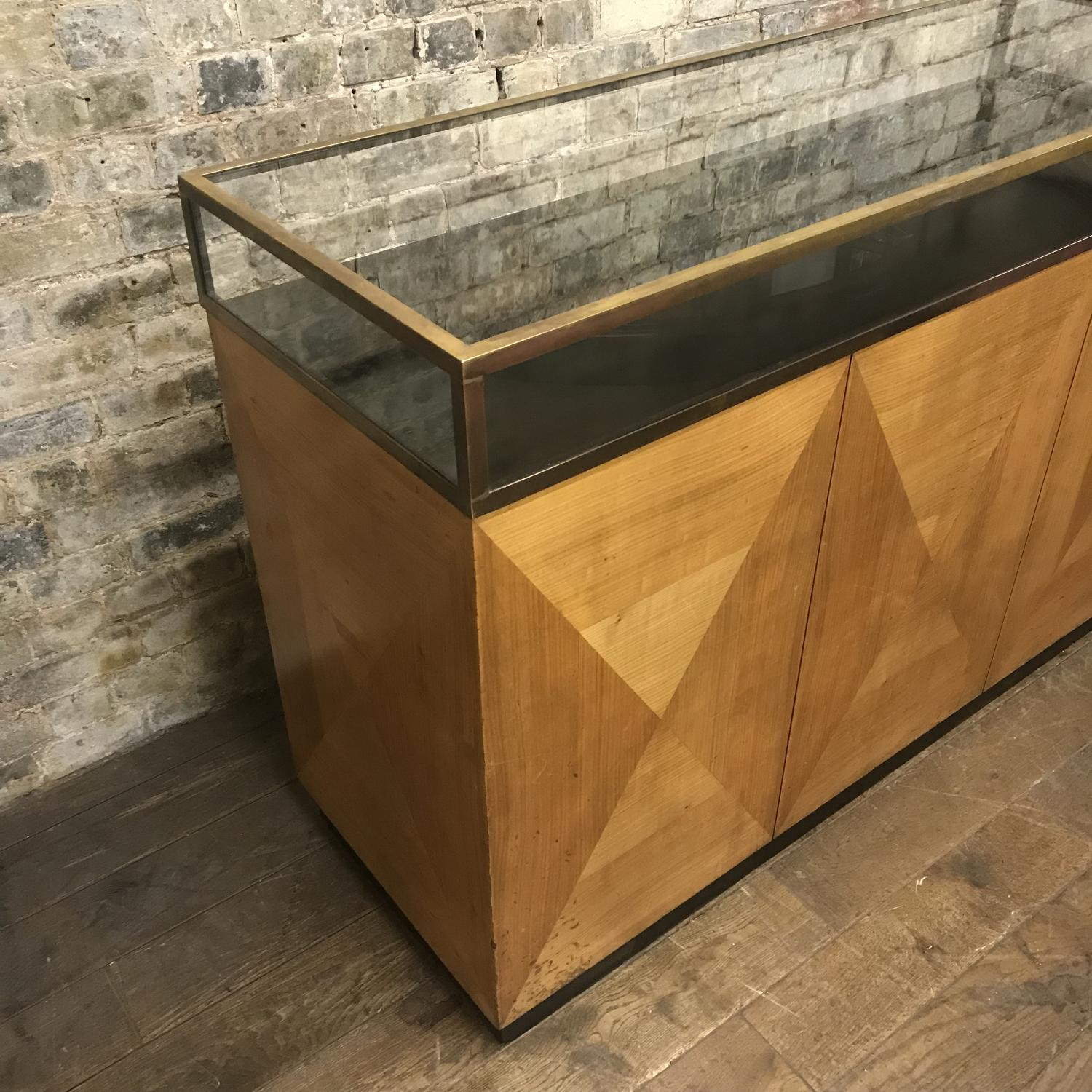 Vintage Art Deco Brass jewellery shop counter