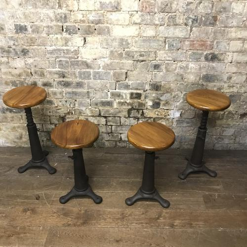 Set of four singer stools