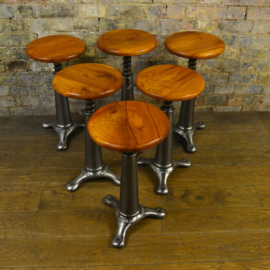 Set of Six Singer Stools