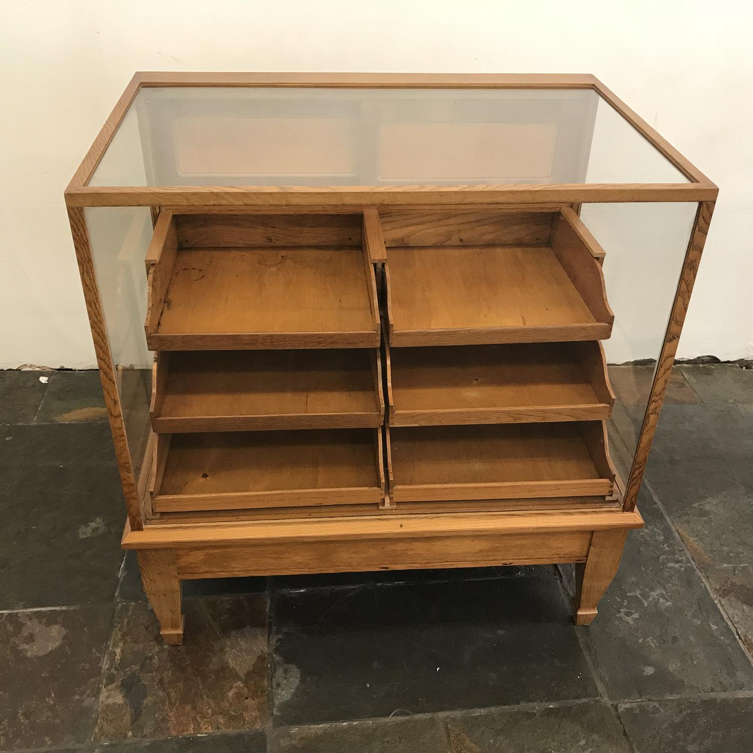 Small Oak haberdashery counter