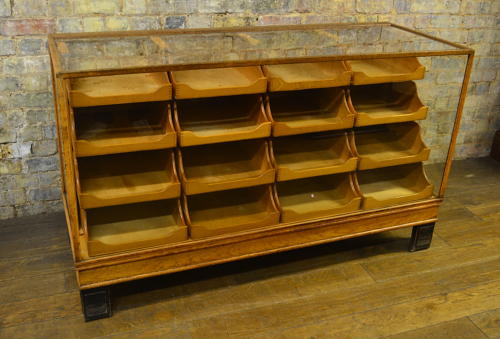 1930s Art Deco Style Haberdashery Drapers Counter