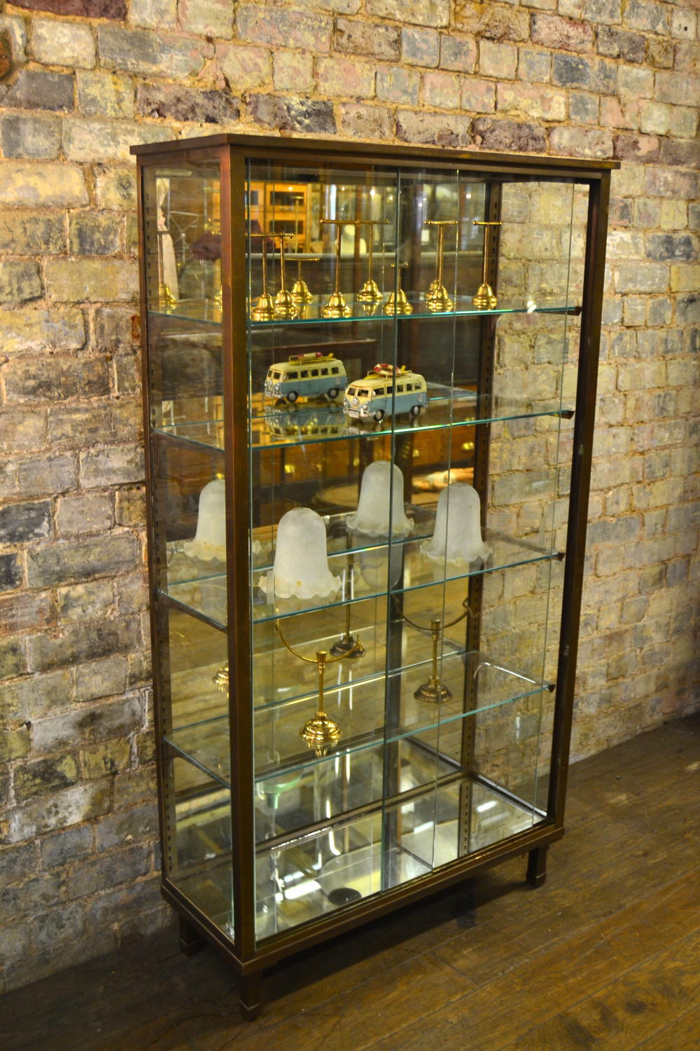 1920 French Bronze Display Cabinet