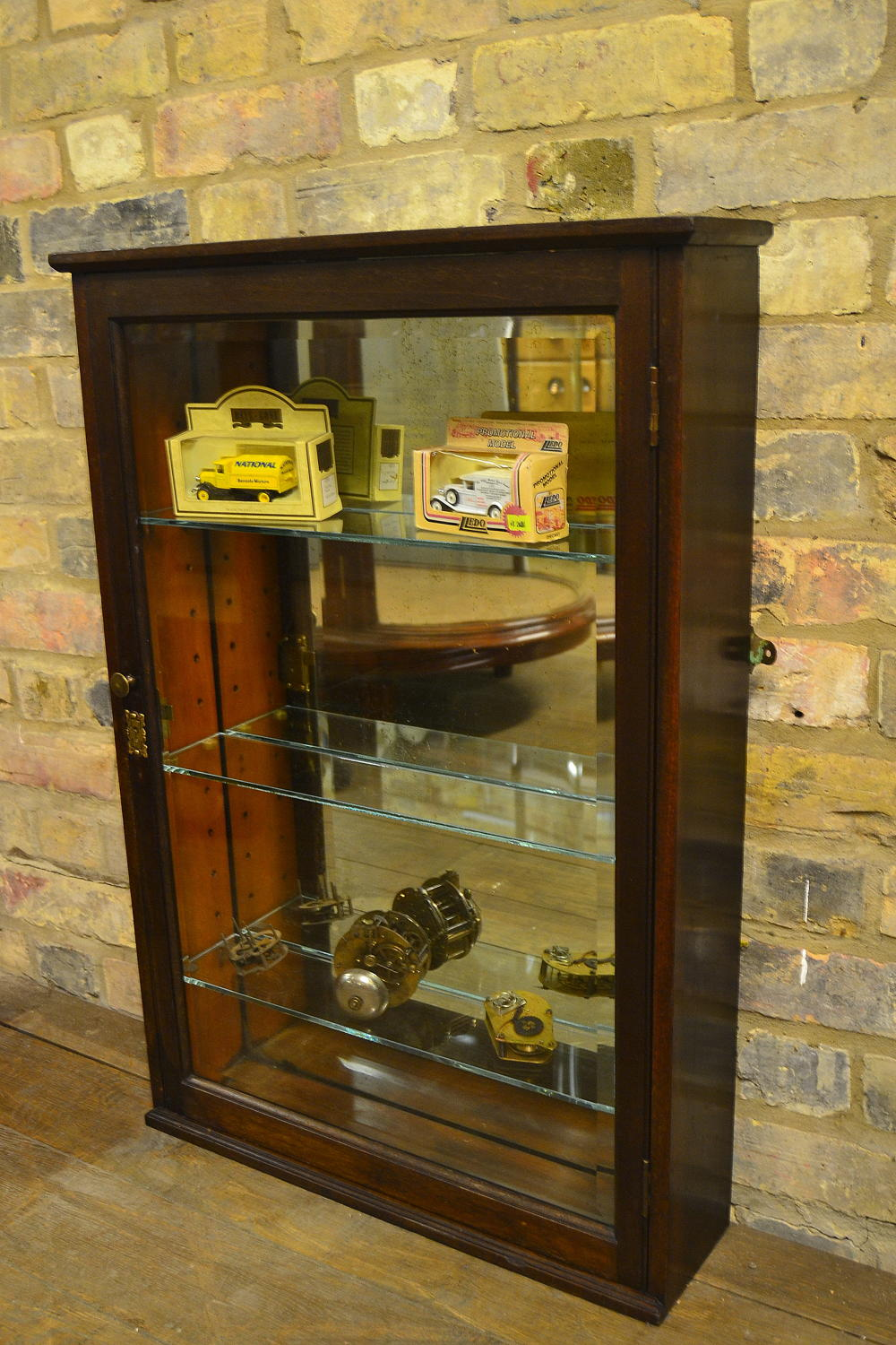 Antique Mahogany Thin Shop Cabinet