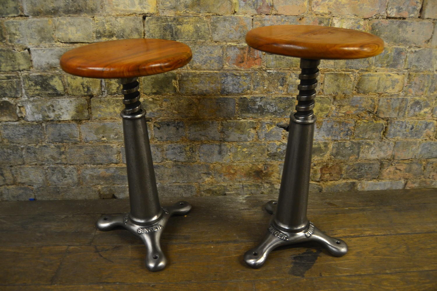 Pair of Singer Stools