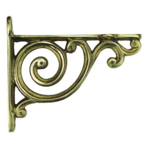 Small Brass Bathroom Shelf Bracket