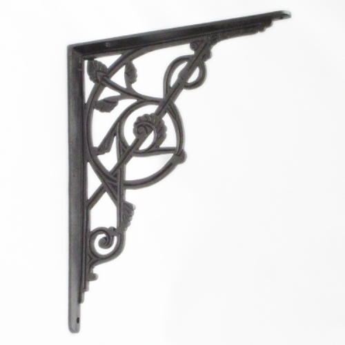 Very Large Cast Iron Trellis Shelf Bracket